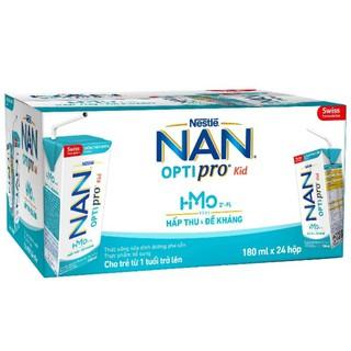 (Mẫu mới) Thùng sữa bột pha sẵn Nan Optipro Kid hộp 180ml (24 hộp) thumbnail