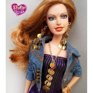 Trang Sức Búp Bê Barbie – Vòng cổ, Hoa Tai Búp bê Handmade cao cấp Kết nối khoen tròn kim loại độc đáo