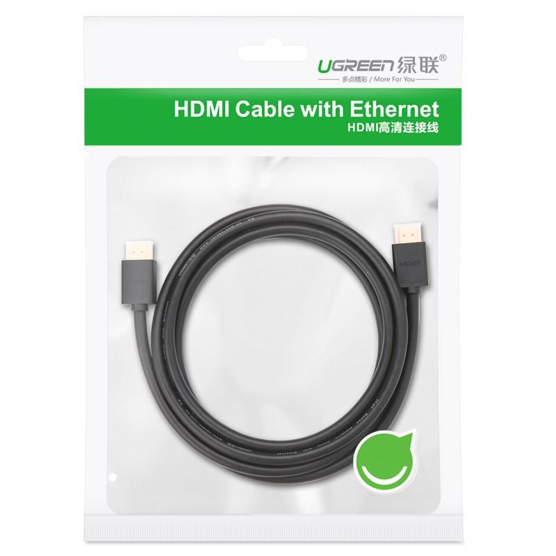 Dây HDMI Dài 3M UGREEN 10108 3D*4K - Cáp HDMI To HDMI - Hàng Chính Hãng