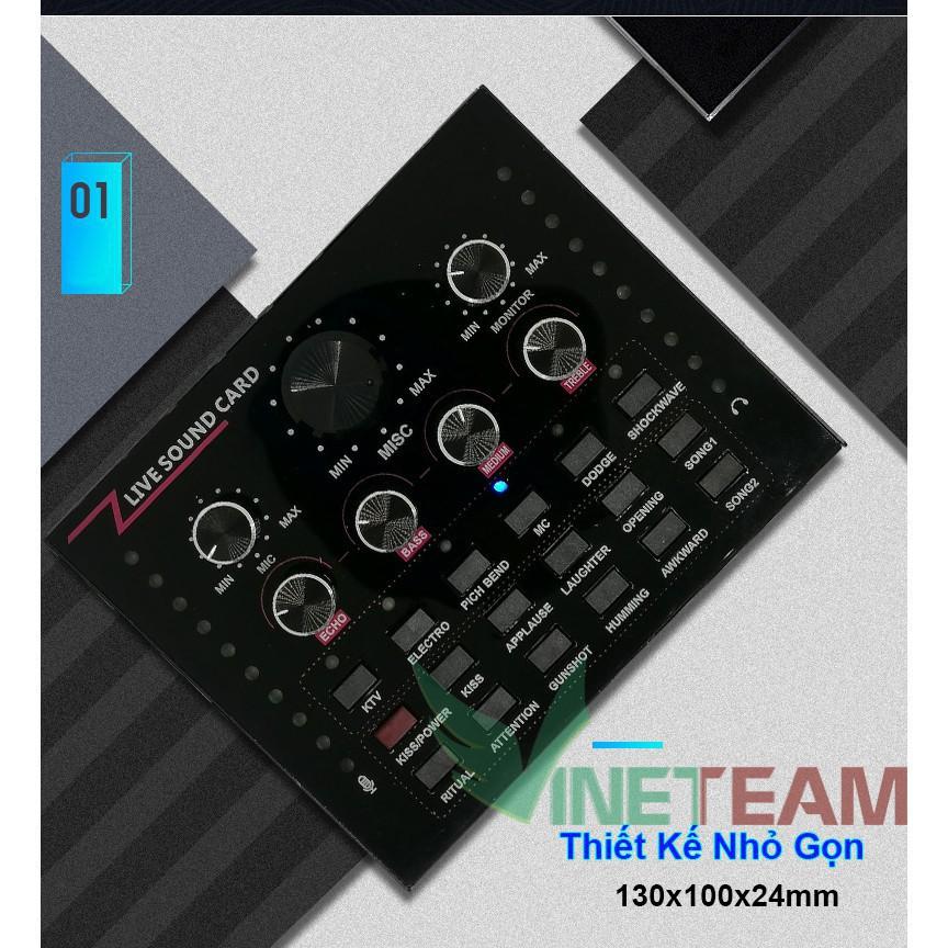 [CỰC ĐẸP]  Sound card thu âm V12 có AutoTone Chất Lượng Cao phiên bản nâng cấp cho âm thanh sống động(Bản tiếng anh)