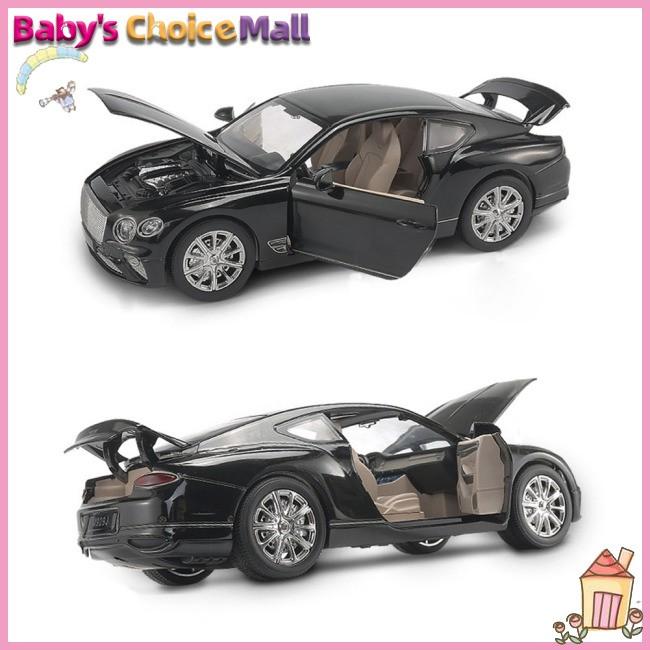 GT Racing Car Model Toys Music Car Light Back for Pull Children