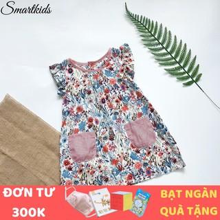Váy cho bé gái - Váy xòe cánh tiên họa tiết hoa Little Maven phối 2 túi Smartkids TE2069