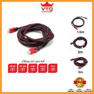 [Siêu khuyến mại] Dây cáp tín hiệu HDMI 1.5m, 3m, 5m tròn chuẩn 1.4v hnagf chất lượng.bảo hành 3 tháng.shopphukienvtq