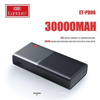 Bộ sạc dự phòng 30000mAh Earldom PD-06 Hỗ trợ sạc nhanh