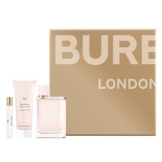 Gift Set nước hoa nữ Burberry Her Eau de Parfum 3pcs (EDP 100ml & Dưỡng da 75ml & EDP 7,5ml ) thumbnail
