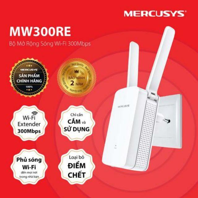 Thiết bị kích WIFI MERCUsYs MW300RE, hàng chính hãng, bảo hành 24 tháng – Kèm thẻ đt 20k Giá chỉ 175.000₫