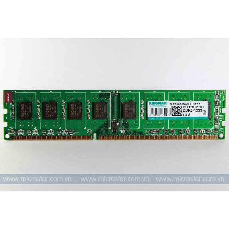 Ram DDR3 kingmax 2gb Bus 1333 Giá chỉ 180.000₫