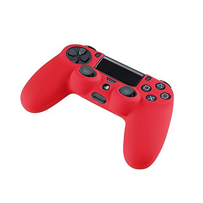 Silicone Rubber Soft Skin Cover Case Protective Case for PS4 Controller Grip