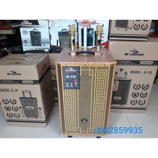 Loa kéo karaoke kiomic K123 bass 3 tấc kèm 2 micro không dây ( kiomic K123)