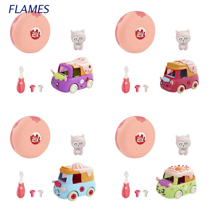 FL Disassembled Building Block Assembly Model Toy Car for Kids Girls Early Learning