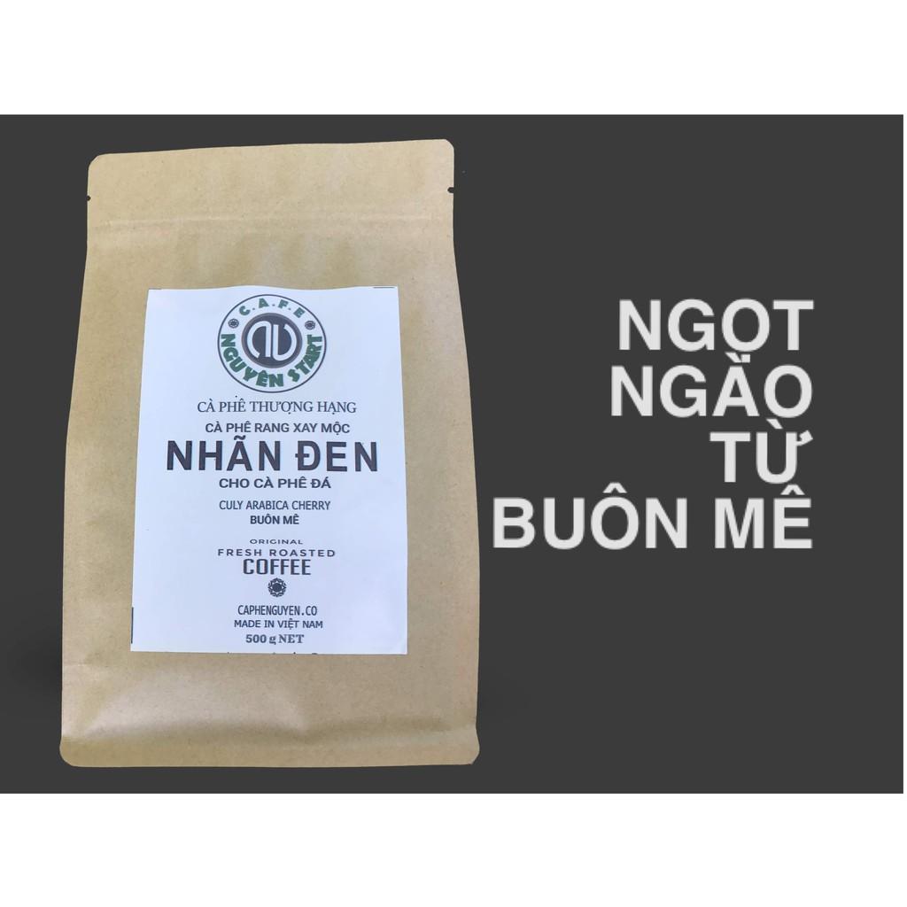 Cà phê rang xay mộc, nguyên chất Nhãn Đen dành pha cà phê đã, gói 500gr - Cà Phê Nguyên