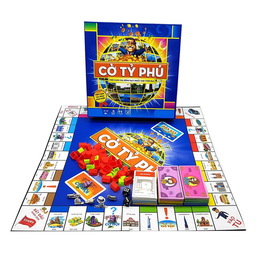 Cờ Tỷ Phú Việt Nam - Trò chơi gia đình rèn luyện tư duy tài chính hay nhất mọi thời đại (hộp to cứng)