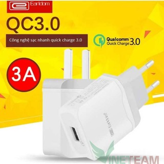 Củ sạc 3A Earldom ES-KC16 Quick Charge 3.0 một cổng USB -dc2600
