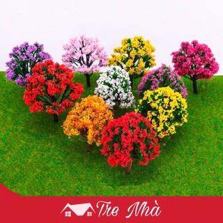 Cây hoa anh đào màu đỏ lớn thủ công DIY thumbnail
