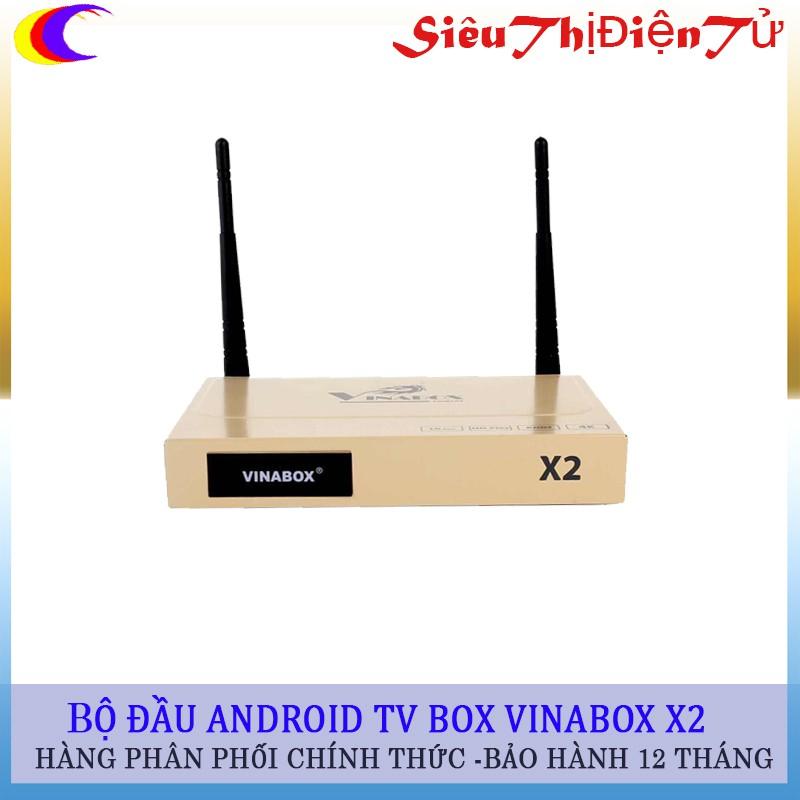 ĐẦU ANDROID TV BOX VINABOX X2 phiên bảo mới- android tv box x2 chạy hệ diều hành android