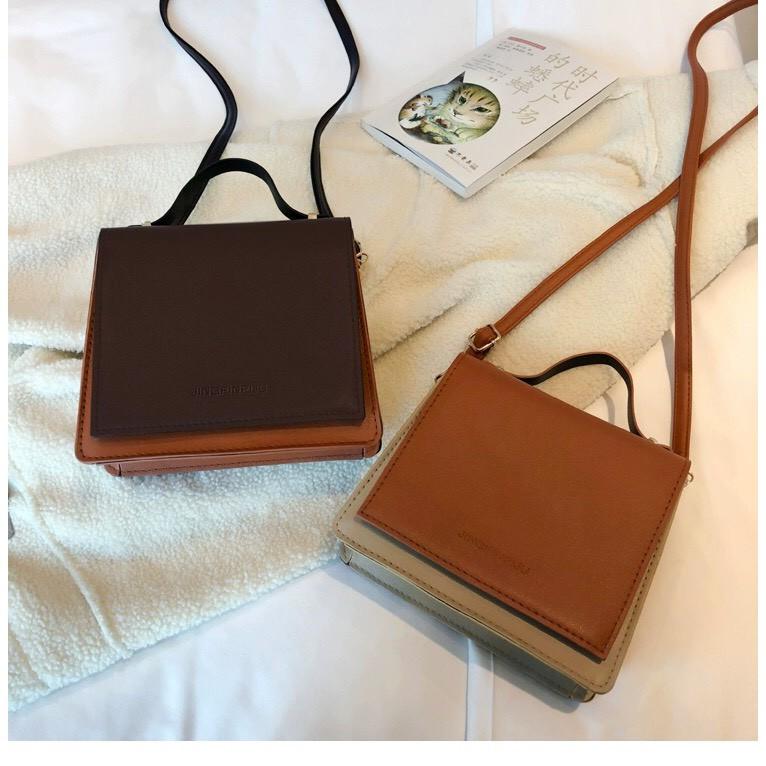 Túi xách nữ đeo chéo nắp vuông Âu Mỹ đẹp Retro TX26