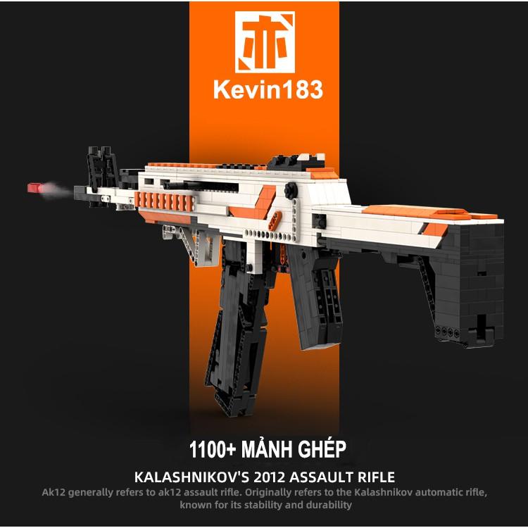 Bộ Đồ Chơi Lắp Ghép Kiểu LEGO Mô Hình PUBG AK-12 Asiimov – Bản Tiêu Chuẩn Của Kevin183 Với 1100+ Chi Tiết
