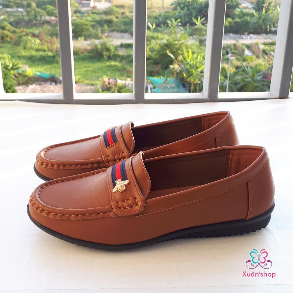 Giày lười nữ Daphne da mềm mịn, đế chống trượt (có sẵn)