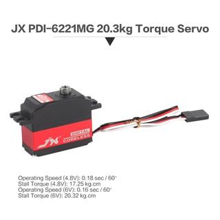 JX PDI-6221 4.8-6V 0.16sec/60° Digital Servo 20.3kg Torque for 1/10 1/8 RC Car
