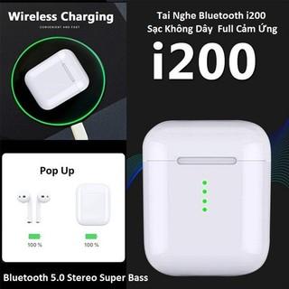 [Mã ELFLASH5 giảm 20K đơn 50K] Tai nghe không dây Bluetooth 5.0 màu trắng PK W1 i30 i60 i80 i200 TWS i100