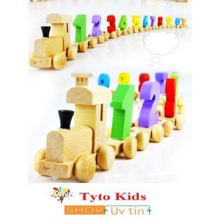 Đồ Chơi Cho Bé | Đoàn tàu số – đồ chơi giáo dục gỗ an toàn (loại đẹp) | | Biabibo VNN