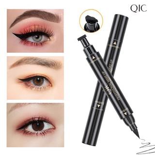 Bút dạ kẻ mắt hai đầu QIC cao cấp không lem không trôi, chống nước hiệu quả và giúp định hình nét kẻ mắt cho makeup nữ thumbnail
