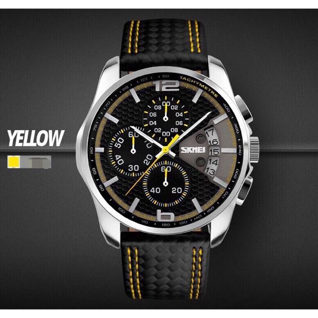 Đồng hồ nam Skmei ms029 dây da công ty 40mm chạy đủ kim❤️