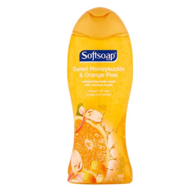 SỮA TẮM Softsoap Sweet honeysuckle & Orange Peel của MỸ-532 ml