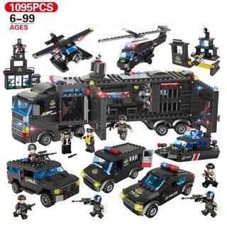 Bộ đồ chơi lắp ráp 1095 chi tiết mô hình ô tô máy bay trực thăng