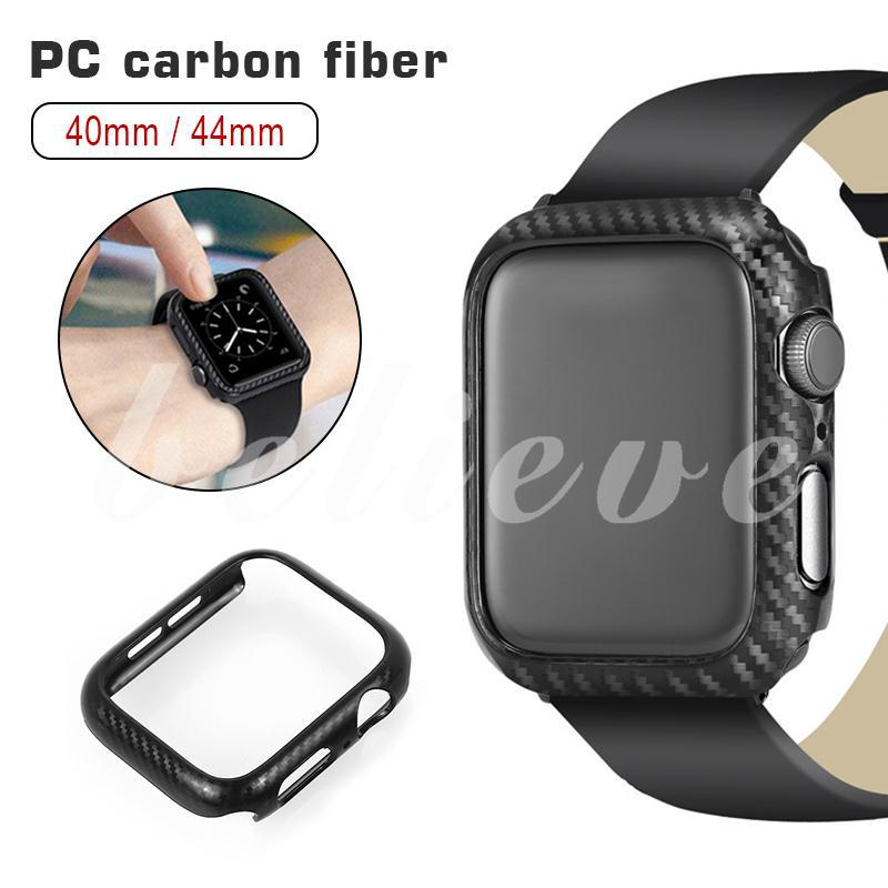 Protective Convenient Watch Cover Carbon Fiber Durable Supplies Watch Case Watch Shell for Apple Watch