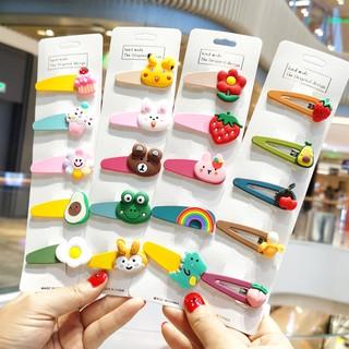 Set 5 kẹp tóc xinh xắn dễ thương phong cách Hàn Quốc cho bé yêu D44 thumbnail