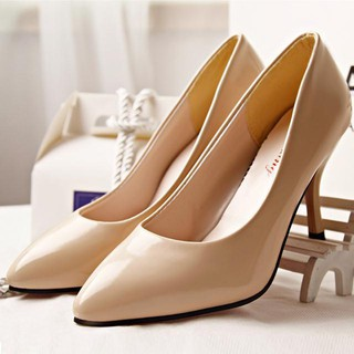 Giày cao gót nhọn da bóng 7cm sang chảnh-gcg18-TT&GĐ