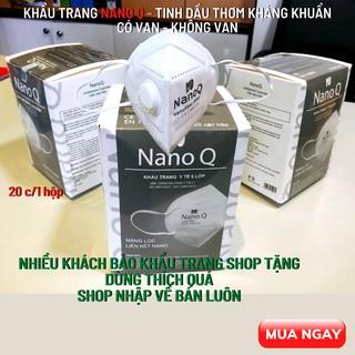 Khẩu trang y tế NanoQ N95 có tinh dầu Nano 5 lớp kháng khuẩn, chống bụi mịn, có van thở an toàn, dùng nhiều lần thumbnail