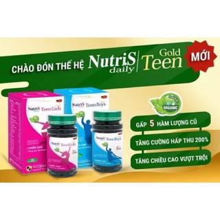 ( Mua 5h Tặng 1h + 1h Gel rửa tay khô Dr.Safe 100ml ) NutriS – Teen Boy và Teen Girl