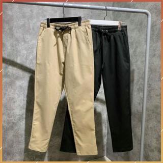 1hitshop Quần pant kaki nam nữ, quần dài kaki unisex hàn quốc 2 màu basic