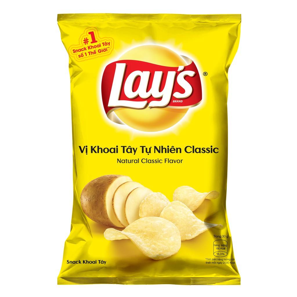 Bánh Lays Snack Khoai Tây Vị Tự Nhiên Classic 95g