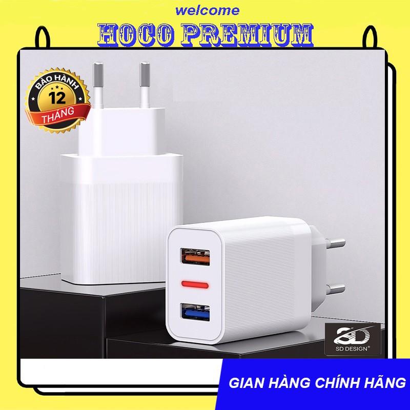 CỦ SẠC SD HG01 SẠC FULL DÒNG IPHONE, ANDROID, 2.4A 2 CỔNG - CHÍNH HÃNG
