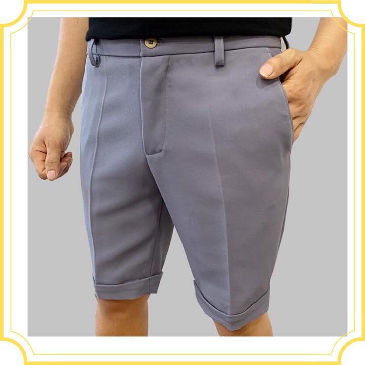 Quần short âu nam cao cấp dáng slimfit, chuẩn thiết kế hàn quốc, cực tôn dáng, lịch sự, trẻ trung(QSAT)