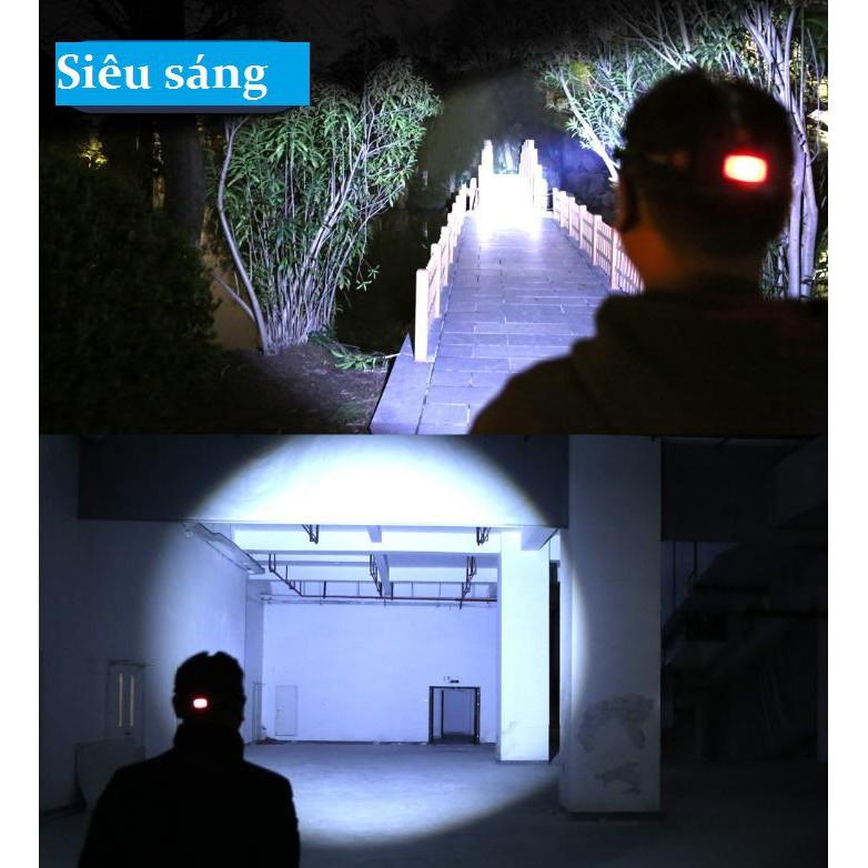 [ Bản Mới, Bóng To Sáng Hơn ] Đèn Pin Đội Đầu 5 Mắt Siêu Sáng, Đèn Pin Siêu Sáng Pin Dung Lượng Cao
