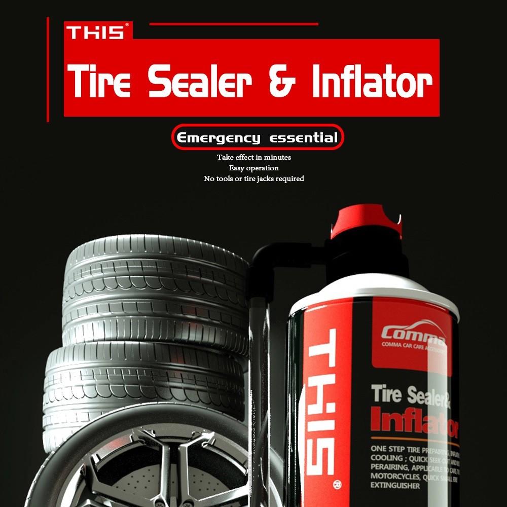 Chai Vá Lốp - Bơm Lốp Khẩn Cấp Cho Xe Ô Tô, Xe Máy - Chất Bịt Kín Lốp Xe - THIS Tire Inflator - MILOZA
