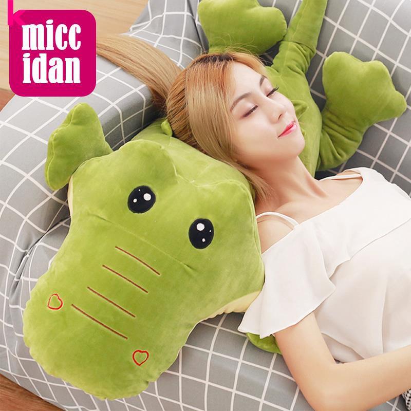 Cute crocodile doll long strip pillow holding sleeping pillow adult clip leg gir
