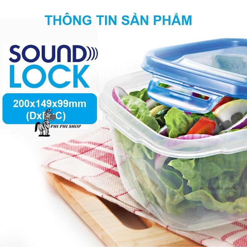 Set 2 hộp bảo quản Lock&Lock Sound Lock dung tích 1.5L hình chữ nhật LEP552