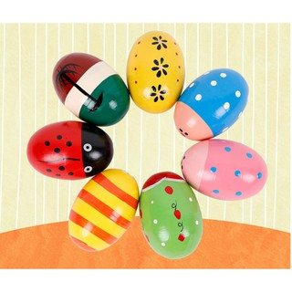 1 Pc Wooden Sand Eggs Children Kids Baby Educational Instruments Musical Toy