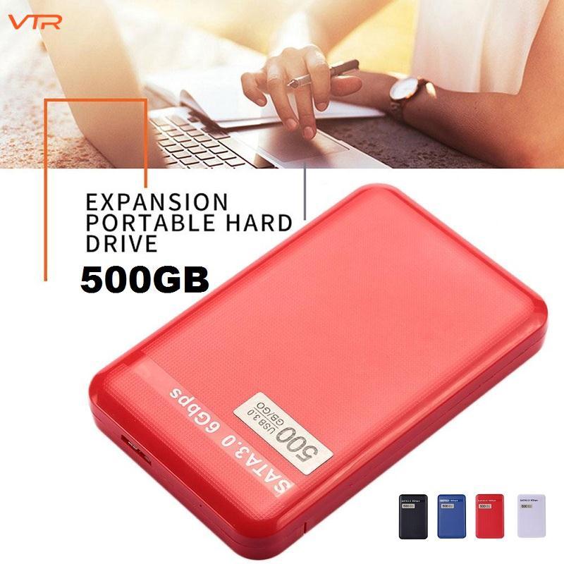 500GB USB 3.0 Portable External Hard Disk Drive HDD for Laptop/Mac PC Black Giá chỉ 515.473₫