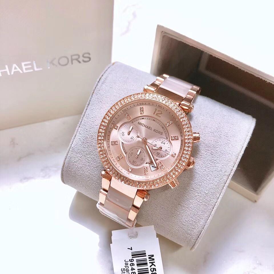 Michael Kors นาฬิกาข้อมือผู้หญิง RoseGold สายสแตนเลส รุ่น MK5896
