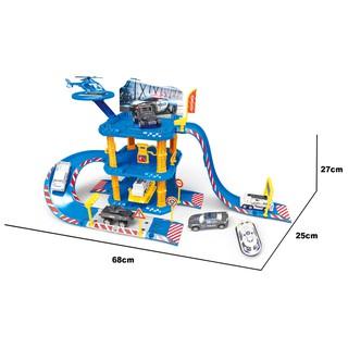 Đồ chơi xây dựng Trạm đỗ xe cảnh sát tích hợp Six-six-zero-A31