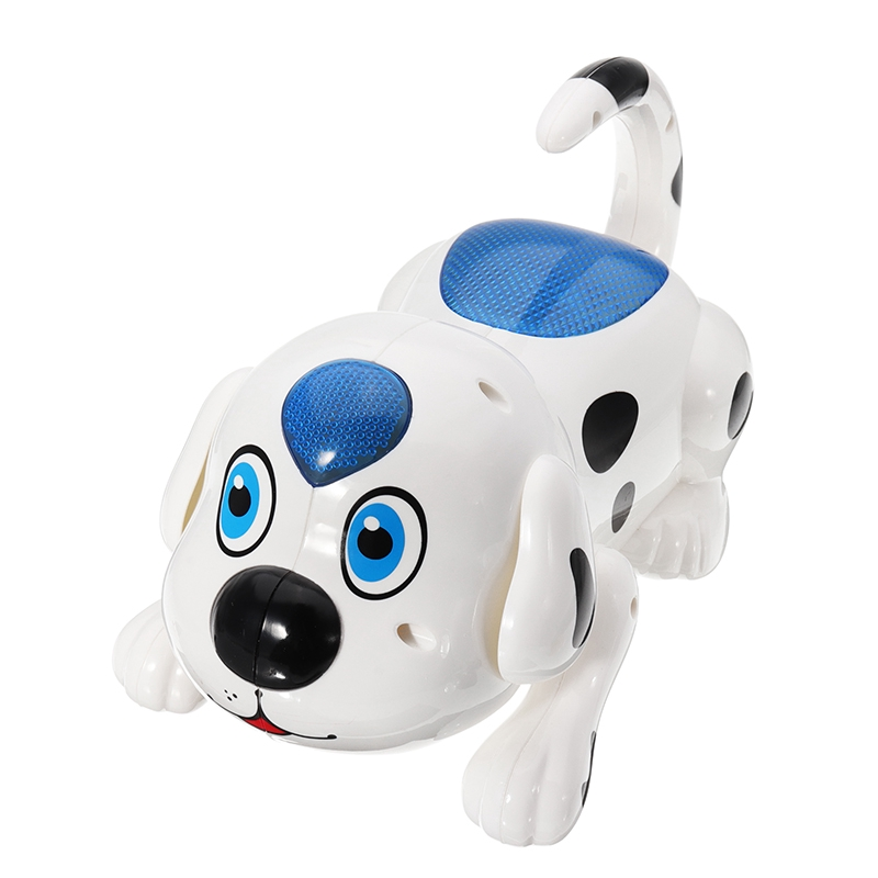 Funny Electronic Crawl Roll Over Dog With Led light Educational Toys Kids