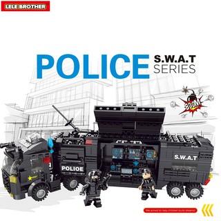 HỘP 8 BỘ ĐỒ CHƠI LẮP RÁP BIỆT ĐỘI S.W.A.T POLICE LELE BROTHER