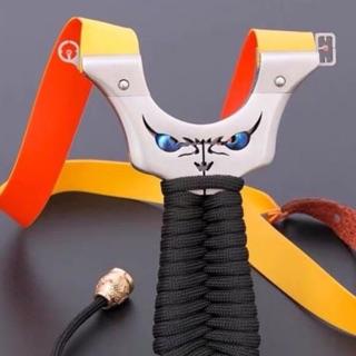 [RẺ VÔ ĐỊCH] ná cao su mặt quỷ inox 304 – tặng 2 bộ dây thun ná cao su siêu bền.