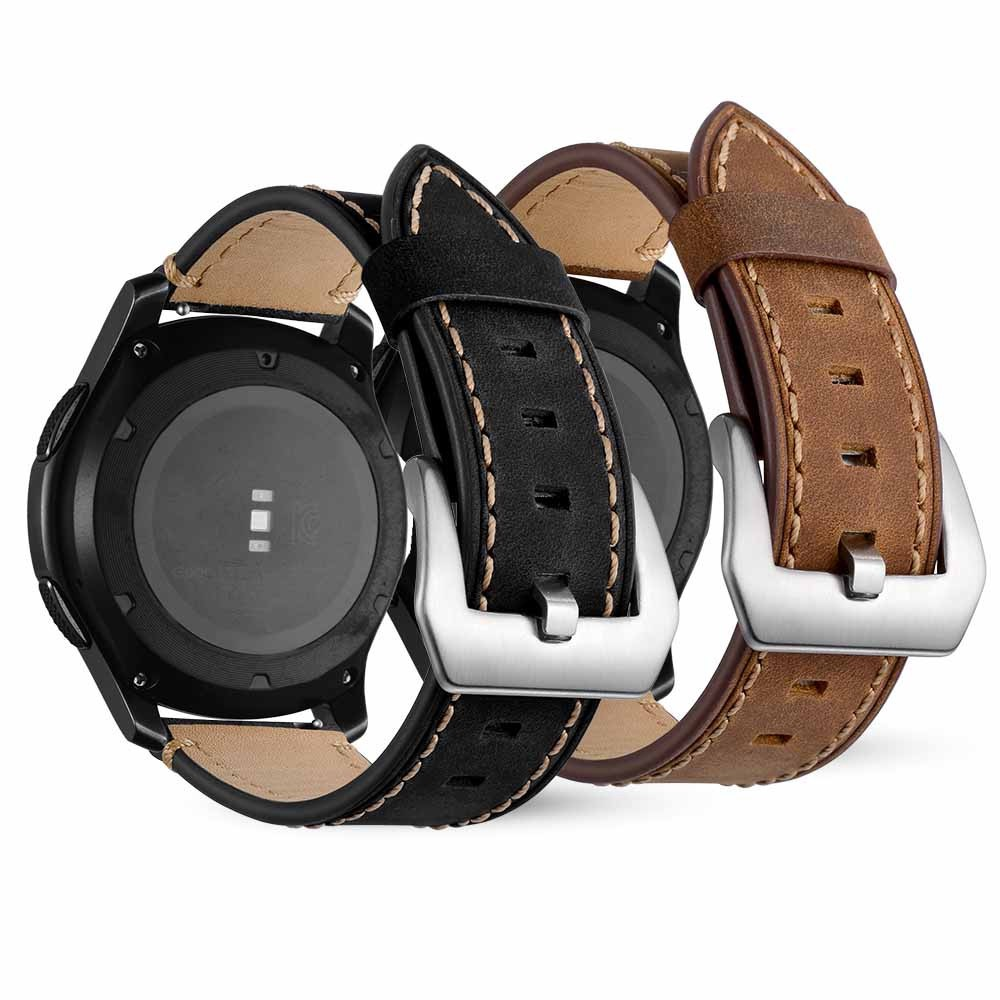 20mm Leather Replacement Watch Wrist Strap For Samsung Galaxy watch 42mm